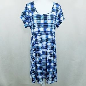 Avenue Plaid Dress - Plus Size 22/24 - NWT